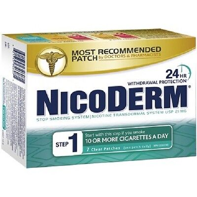 NICODERM STEP 1 (21MG) CLEAR NICOTINE PATCHES  (7 Patches)