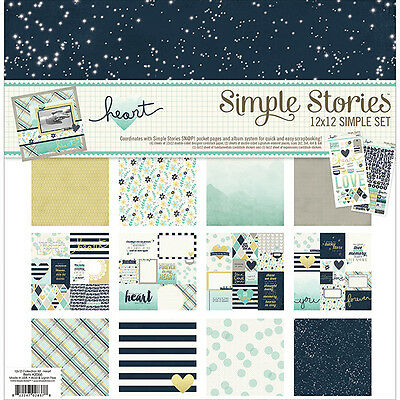 Simple Stories - Simple Sets Collection Kit 12x12 - Heart