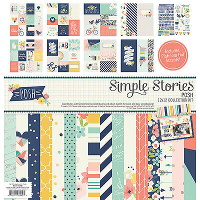 Simple Stories - Collection Kit 12x12 - Posh with Foil Accents
