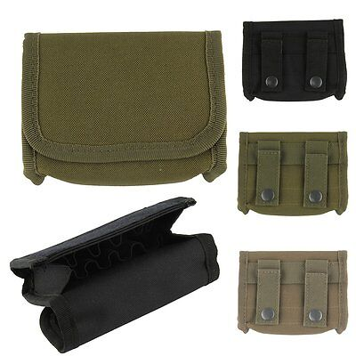 Tactical Molle PALS Shotgun Ammo Reload Pouch Holster Hunting Magazine Bag