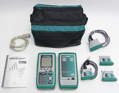 Microtest Omni Scanner Remote Cable Tester Cat 5/5E/6/7 Analyzer Certifier