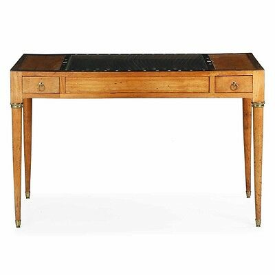 Regency Neoclassical Backgammon Antique Games Writing Table, Early 19th Century