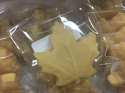 100% Pure Maple Sugar Candy - Large Leaves 150ct - All Natural Maple Syrup