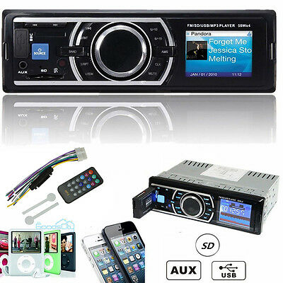 Auto Car Stereo Audio In-Dash FM Aux Input Receiver SD USB MP3 WMA Radio Player