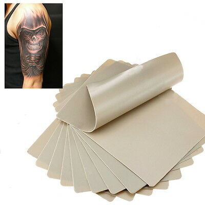 10 Learning Blank Tattoo Tattooing Fake False Practice Skin 20x15cm Synthetic ぱ