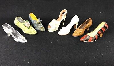 Lot of 7 Mini Shoe Collection
