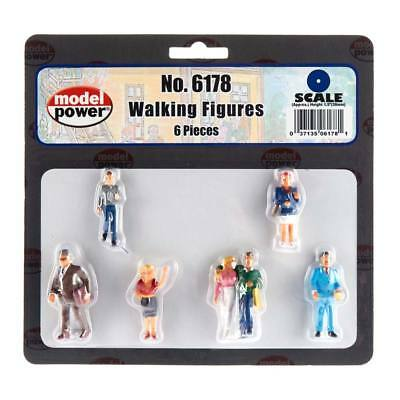 NEW Model Power Walking Figures (6) O 6178