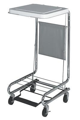 Medline Standing Rolling Laundry Hamper with Foot Pedal MDS80529
