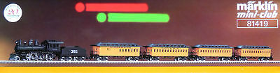 Marklin Z Mini Club 81419 Illinois Central 4-6-0 IC 382 & 4-Passenger Car Set