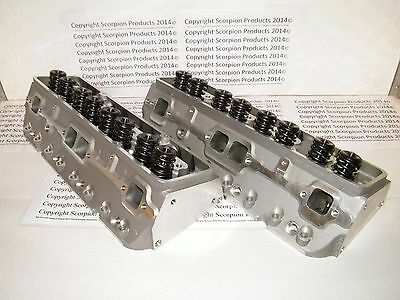 SBC Aluminum Heads 220cc Runners Small Block Chevy 350 383 400 FREE SHIPPING