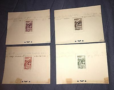 French Morocco 1948 B35 Medical Health Care Red Cross Printer Color Proof