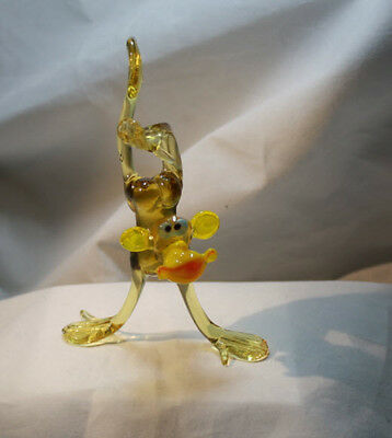 "Art Figurine CHIMPANZEE # 4763 Hand Blown Glass /""Murano/"" Style"