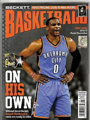 New Beckett Basketball Price Guide Magazine, January, 2017 (Russell Westbrook)