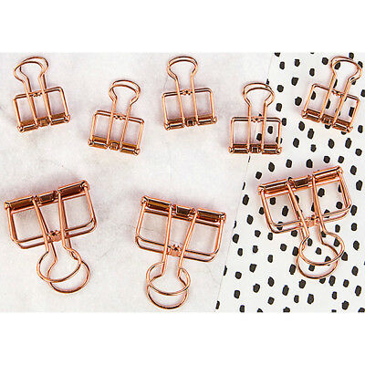 Prima - My Prima Planner - Mini Binder Clips 8 Pack Rose Gold Wire - 5 Small &