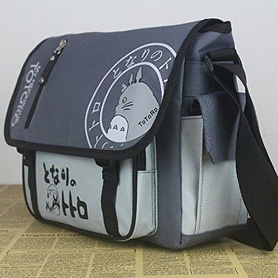 My Neighbor Totoro Canvas Messenger Bag Anime Studio Ghibli Shuolder School Bag