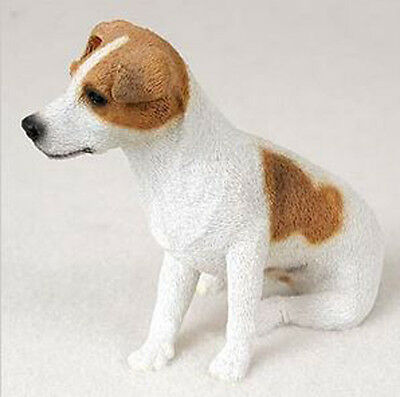 JACK RUSSELL TERRIER (BROWN SMOOTH COAT) DOG Figurine Statue Hand Painted Resin
