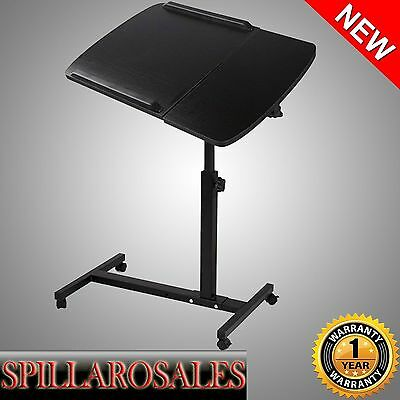 Mobile Laptop Desk Adjustable Notebook Computer iPad PC Stand Table Tray Bed