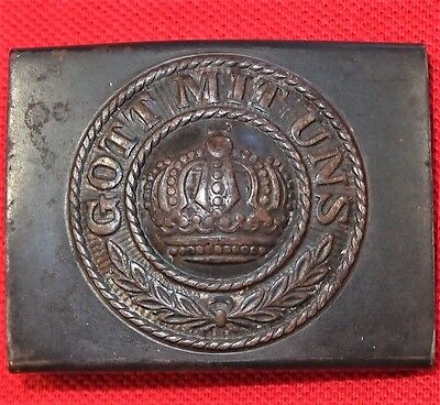 Ww1 German Army Unform Belt Buckle Prussia Gott Mit Uns