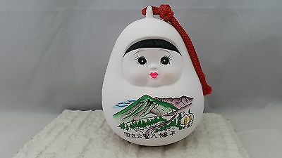LARGE Japanese Ceramic Pottery NATIONAL PARK Bell from Hachimantai City