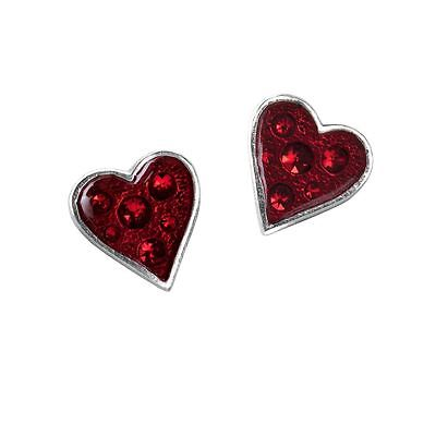 Alchemy Gothic Heart's Blood Pewter Pair of Earrings BRAND NEW