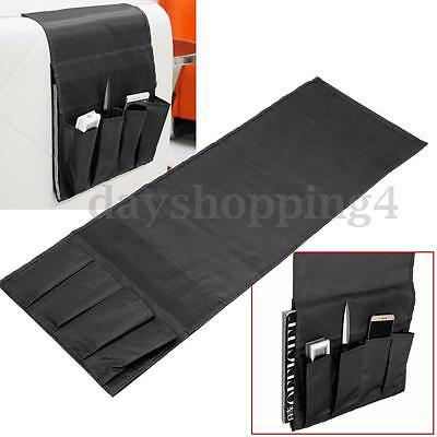 4 Pockets Folded Remote Control Holder Organiser Armchair Couch Storage Tray Bag