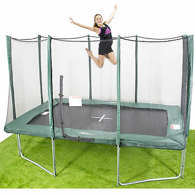 8x12ft Rectangle Trampoline - Inc. Net/Pads/Mat/Springs/Frame & FREE ladder