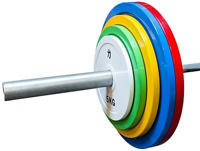Strength Shop Extra Slim Coloured Steel Olympic Plate (Pair) - 0.5-25kg and sets