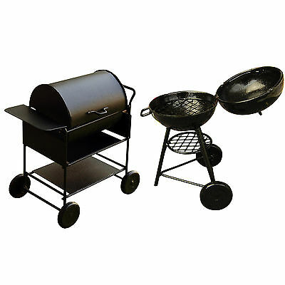 New 1:12 Dollhouse Miniature Outdoor BBQ Square/ Rotundity Barbecue Oven