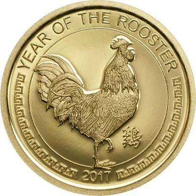 Mongolia 2017 Year of Rooster 1000 Tugrik Gold Coin,Proof