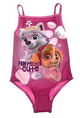 Paw Patrol Swimming Costume Girls Pink Swimsuit All in in One Swimwear Kids Size