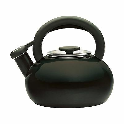 Prestige 46247 Enamel Finish Black Whistling 1.4L Stove Top Kettle New
