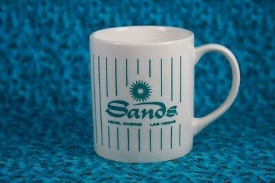 Mug Sands Hotel Las Vegas Souvenir Decorative Coffee Mug White & Teal