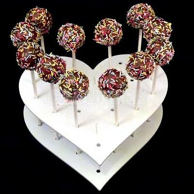 Heart Shaped 15-Hole Acrylic Cake Pop Lollipop Sweets Display Stand Holder