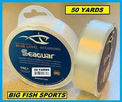 SEAGUAR BLUE LABEL FLUOROCARBON Leader 50YD YARDS PICK YOUR SIZE! FREE USA SHIP!