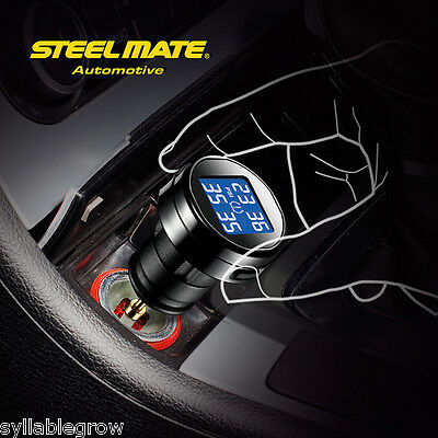 Auto Car Vehicle Wireless TPMS LCD Tire Pressure Monitor System + 4 Sensors