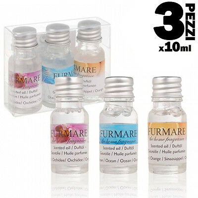 Set 3 Oli Profumati Per Diffusore 3 x 10 Ml 12 Fragranze Essenza Profumo Casa