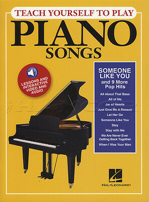 Teach Yourself To Play Piano Songs Someone Like You Music Book & Audio Pop Hits