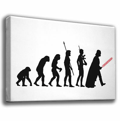 Evolution Into... Darth Vader Star Wars - Giclee Canvas Art