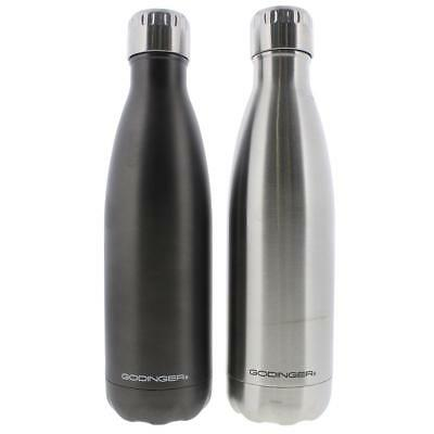 Godinger 8786 Silver Stainless Steel Hot/Cold Water Bottle Set of 2 17 oz. BHFO