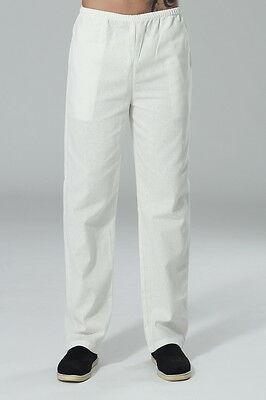 Chef Trousers Plain White Chef Pants Uniform Unisex Elasticated Work Kitchen