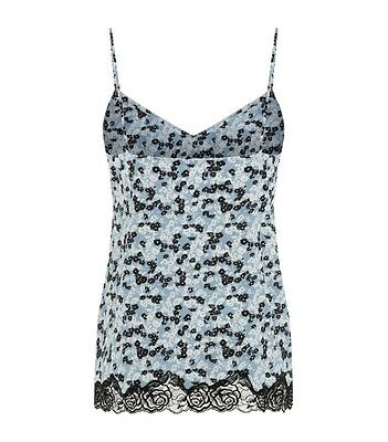 $110 STELLA McCARTNEY Ellie Leaping S50-163 DAISY PRINT Camisole Top LACE Floral