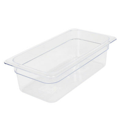 "Clear Food Pan, Third Size (6-15/16"" x 12-3/4"") Size 2-1/2"""