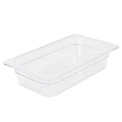 "Clear Food Pan, Quarter Size (6-3/8"" x 10-7/16"") Size 2-1/2"""