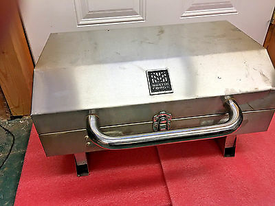 BS6 Master Forge Stainless Steel table top portable propane grill camping must!