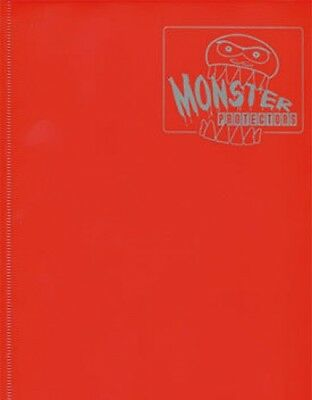 MATTE RED Yugioh Monster Binder 4-POCKET card Protector BRAND NEW!