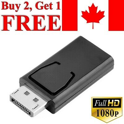 Display Port DP to HDMI Adapter Converter Computer PC to TV Monitor Projector