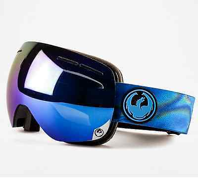 NEW 2016 Dragon X1S Goggles-Spill Blue-2 Lenses-SAME DAY SHIPPING!