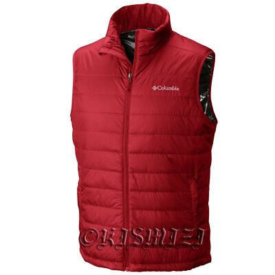 "$90 New Mens Columbia ""Crested Butte"" Insulated Omni-Heat Vest S-L-XL-XXL"