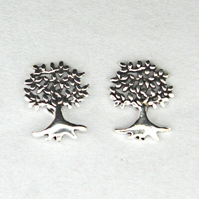 Small 925 Solid Silver Tree of Life Studs Earrings~Pair~Shaman~Pagan Jewellery