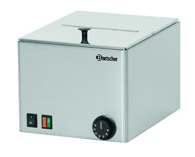 Bartscher A120465 sausage warmer 1 basin, stainless steel, W270xD350xH 240 mm UK